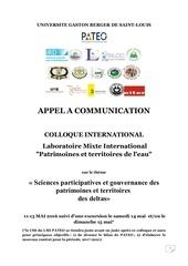appel communication colloque international pateo