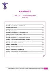 ue5 anatomie cours 1 et 2 le membre superieur tutorat 14 15