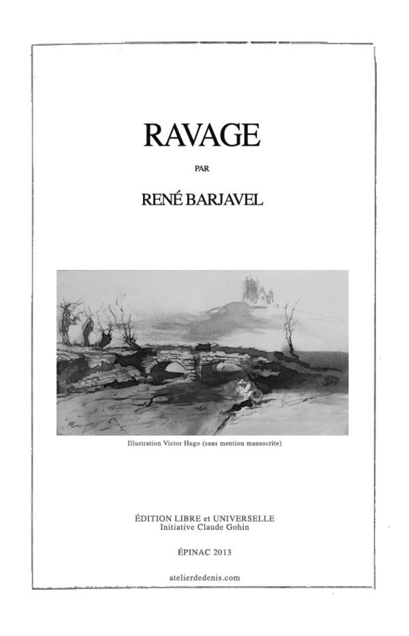 Ravage Barjavel Pdf