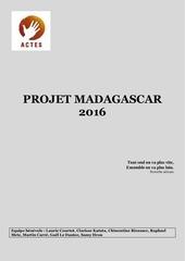 projet madagascar 2016 1