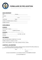 formulaire pre adoption