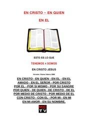 libro en cristo en quien en el pstr valentin enero 2016