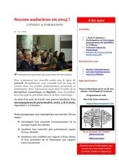 soyons audacieux en 2015 newsletter bussyeducom