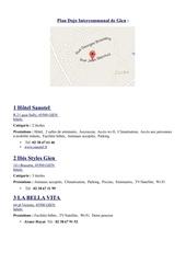 plan dojo adresses hotels