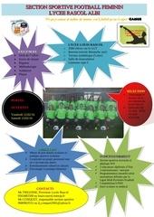 plaquette section sportive foot feminin rascol albi 2016