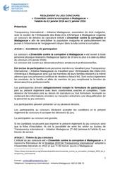 reglement du jeu concours ensemble contre la corruption a madagascar 13012016 1
