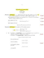corection de l examen alg1