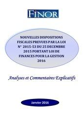 finor commentaire de loi des finances pour l annee 2016 1 1 2
