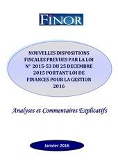 finor commentaire de loi des finances pour l annee 2016 1 1