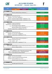 golf calendrier sclbp saison 2016 maj 14 janv 2016