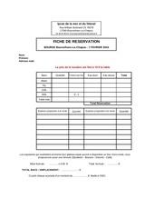 Fichier PDF reservation