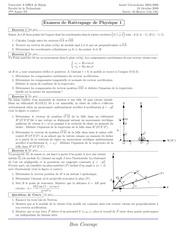 examen rattr corrige phys 1 1ere annee st 08 09