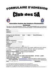 Fichier PDF adhesion club5a