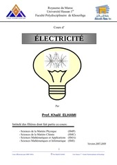 cours d electricite smpc smia fpk by ray