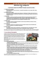 Fichier PDF definition des categories