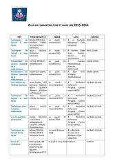 plan de formation lire et faire lire 2015 2016