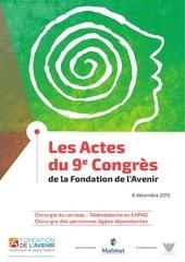 actes du 9e congres de la fondation de lavenir 8 decembre 2015