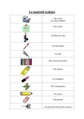 Fichier PDF le materiel scolaire