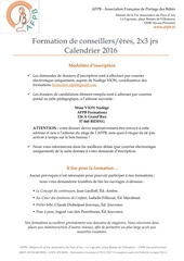 afpb inscriptions et calendrier 2016