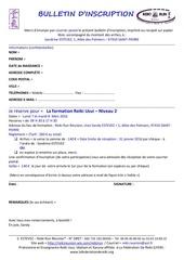 bulletin d inscription reiki niveau 2