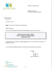 conseil municipal du 26 janvier 2016 1