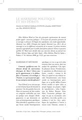 le marxisme politique et ses debats 1