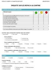 questionnaire cantine