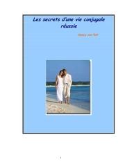 les secrets d une vie conjugale reussie