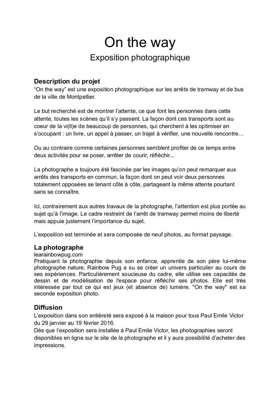 Dossier de présentation On the way.pdf - page 1/3