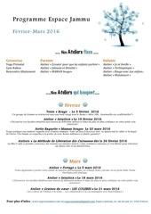 programme hiver 2016