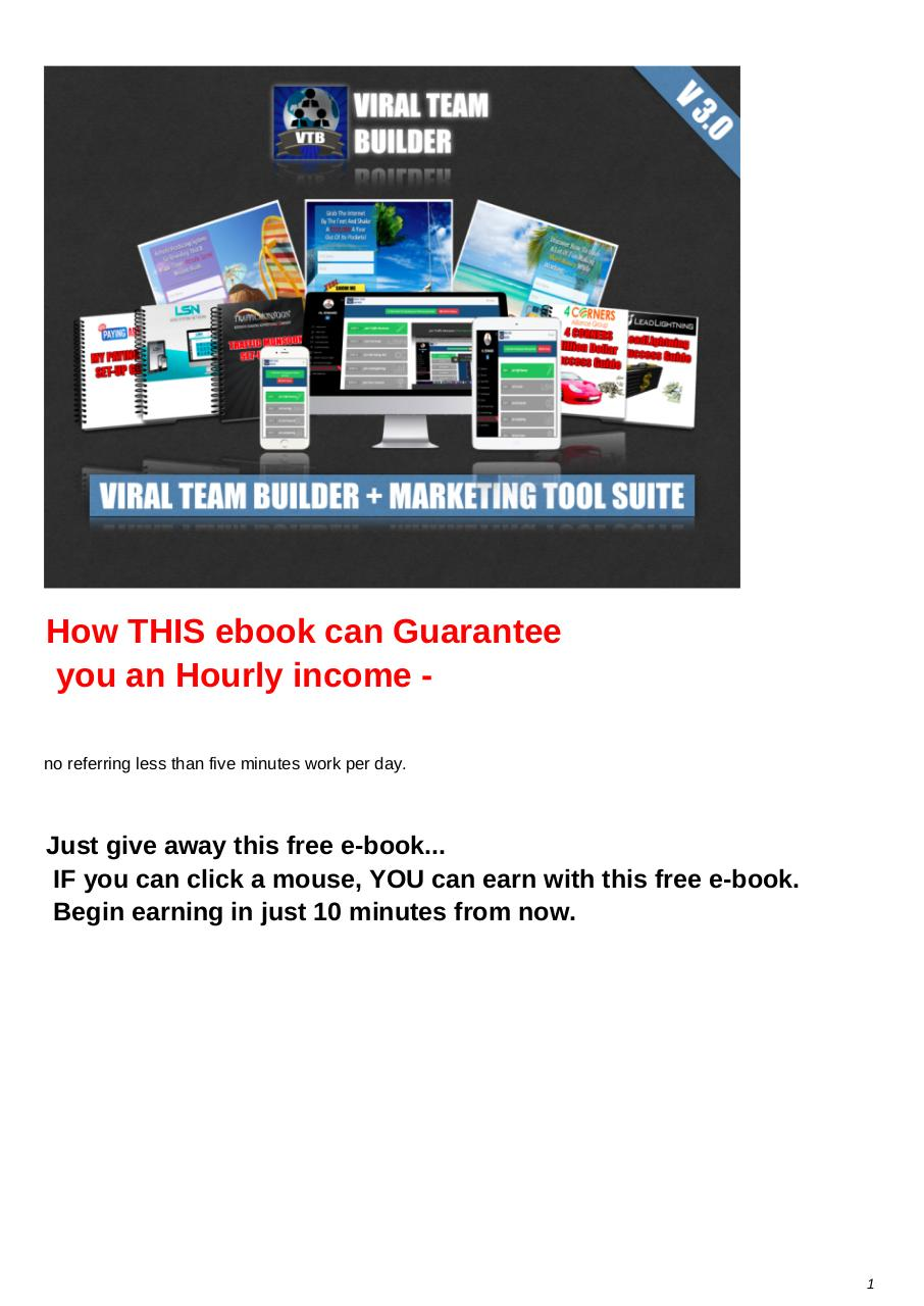 Aperçu du document The Viral Team Builder System - PDF Download.pdf - page 1/26
