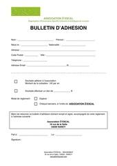 bulletin adhesion oescal pdf