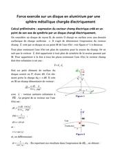 interaction electrostatique sphere disque