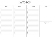 the to dos