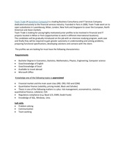 ba job description team trade synechron