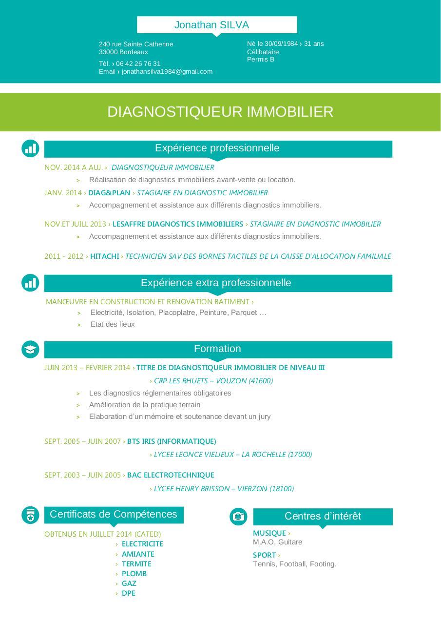 cv diagnostic immo silva 2016