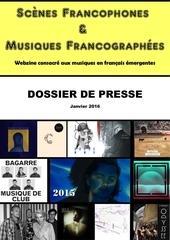 dossier de presse scenes francophones decembre 2015