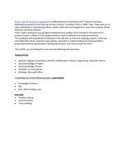 it job description team trade synechron
