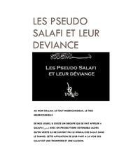les pseudo salafi et leur deviance