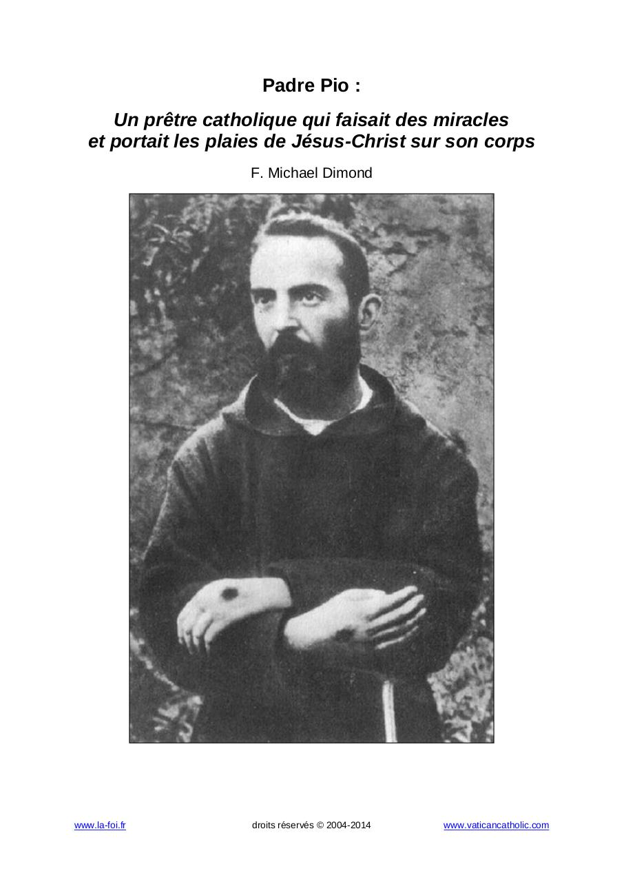 Sainte personnage saint patron Moine Saint Padre Pio hauteur environ 30,5 cm