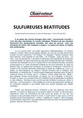 sulfureuses beatitudes