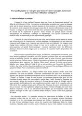 choix de codification graphique pour la langue berbere