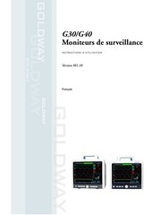 goldway g30 g40 patient monitors instructions for use french