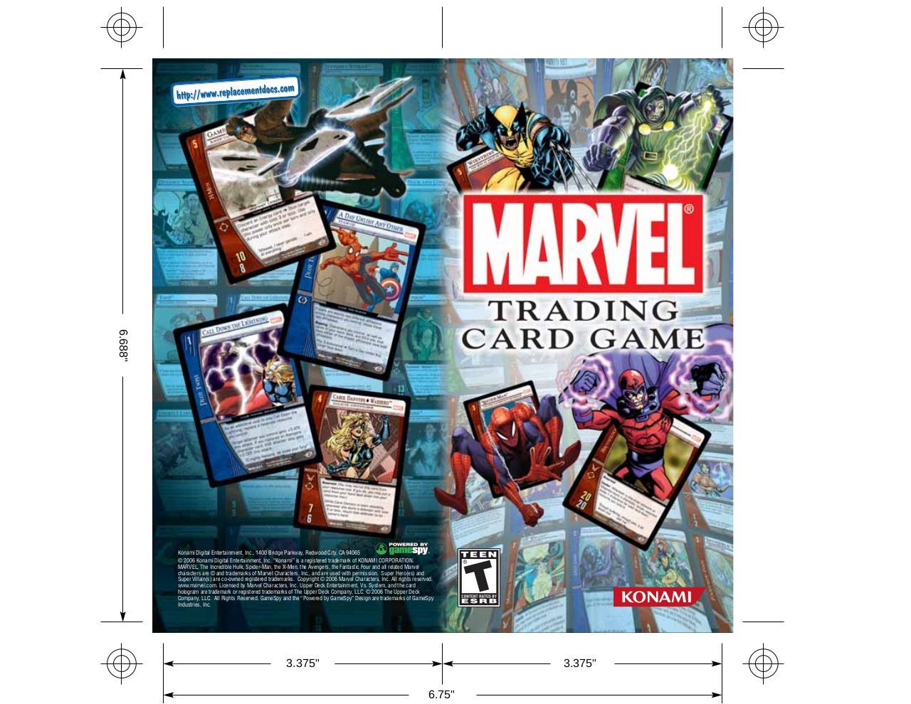 Marvel Trading Card Game - Manual - PSP - Fichier PDF