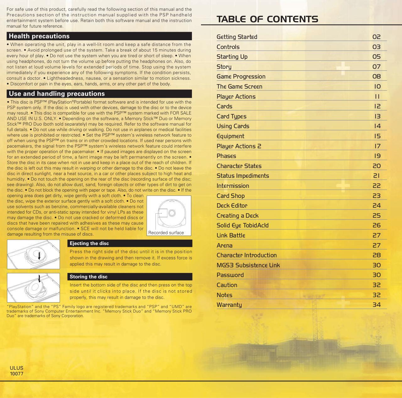 Metal_Gear_Acid_2_-_Manual_-_PSP.pdf - page 2/18