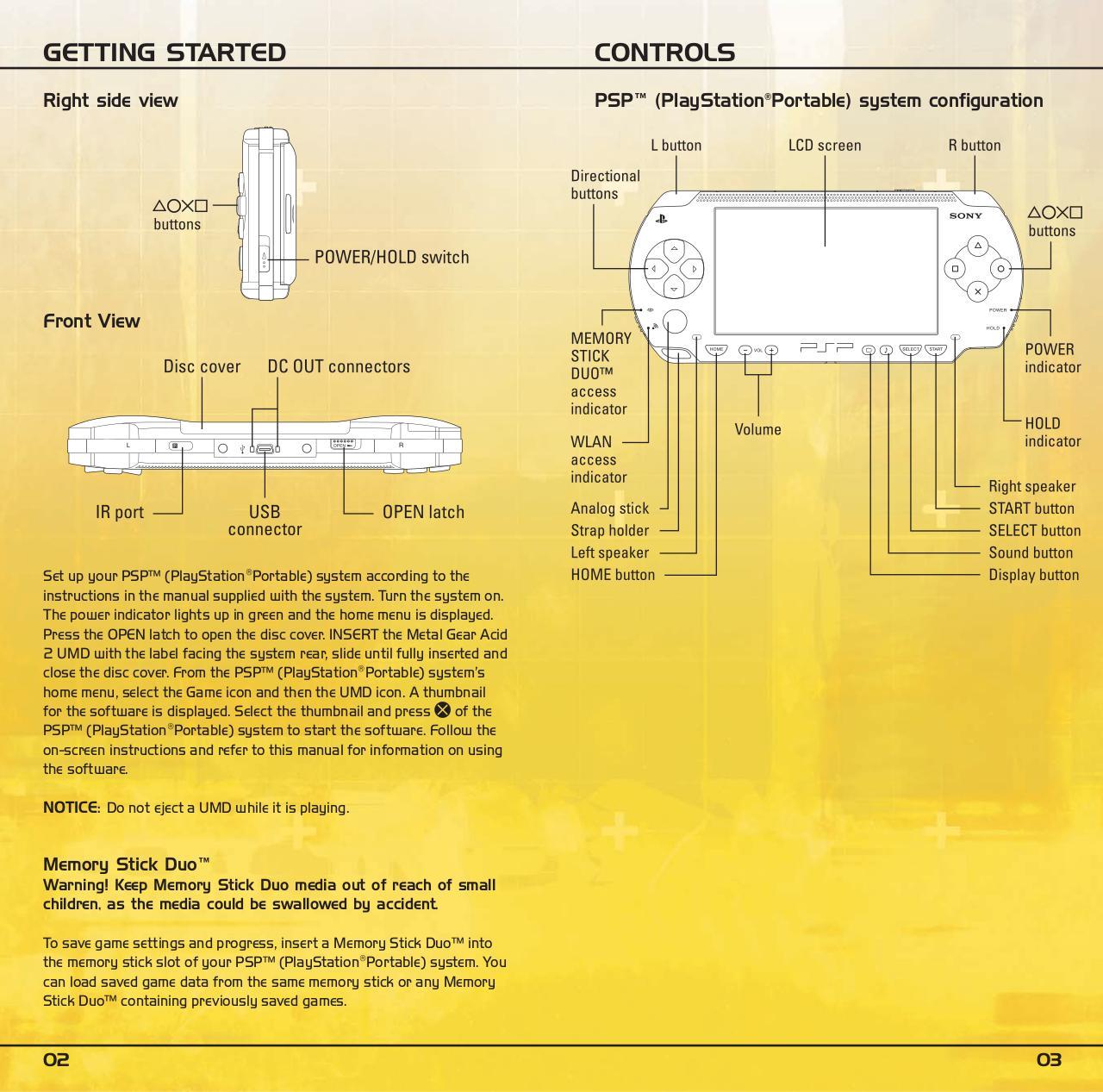 Metal_Gear_Acid_2_-_Manual_-_PSP.pdf - page 3/18