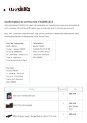 Fichier PDF commande valide e topachat