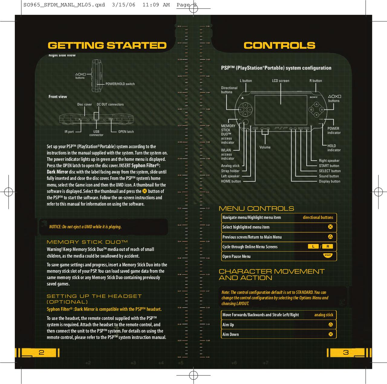 Syphon_Filter_-_Dark_Mirror_-_Manual_-_PSP.pdf - page 3/27