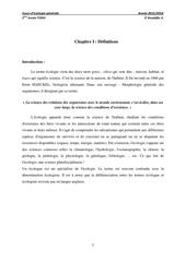 ecologie chapitre 01