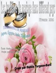 magazine les traditions de mariage dans different pays
